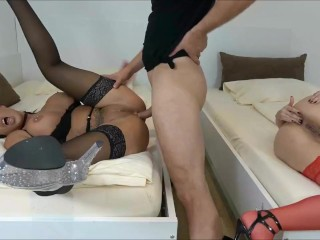 Girls on the sybian vibrator