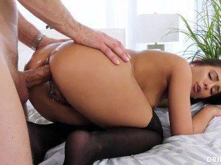 Erotic whore lick cock cumshot