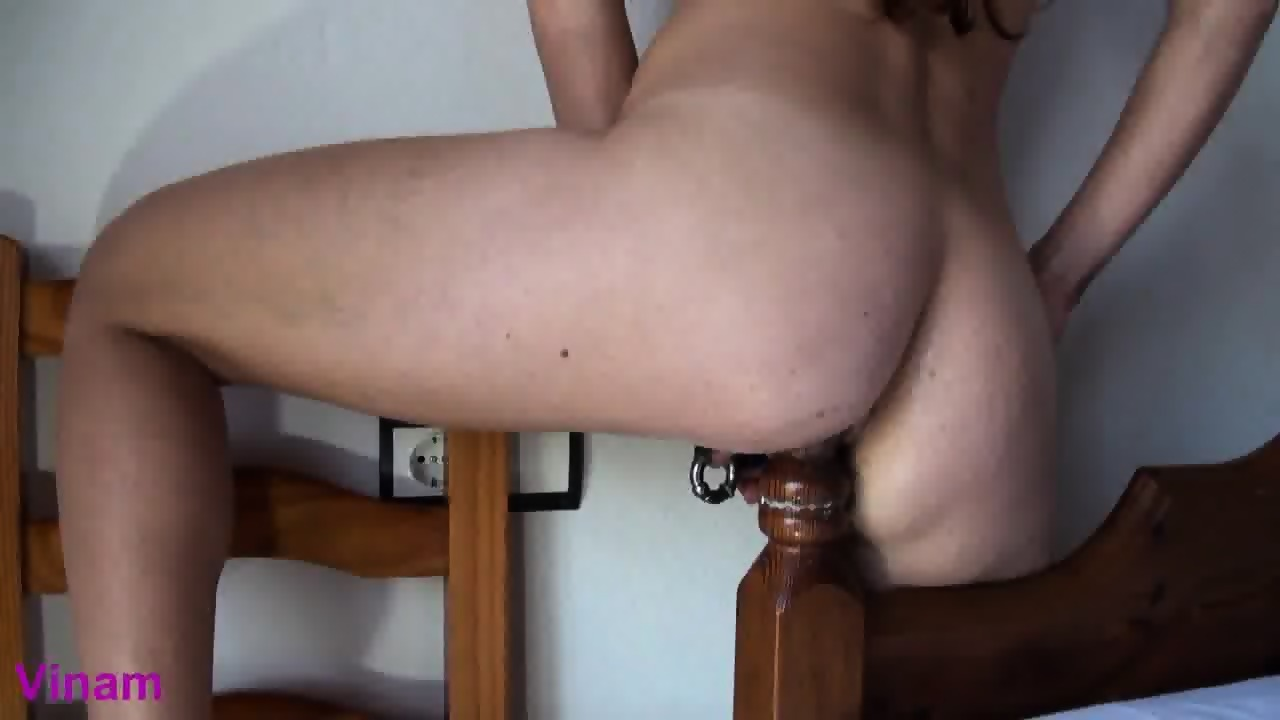 Wet ass riding huge cock